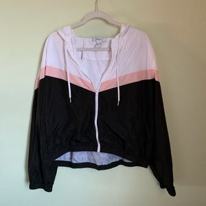 Black, pink and white jacket